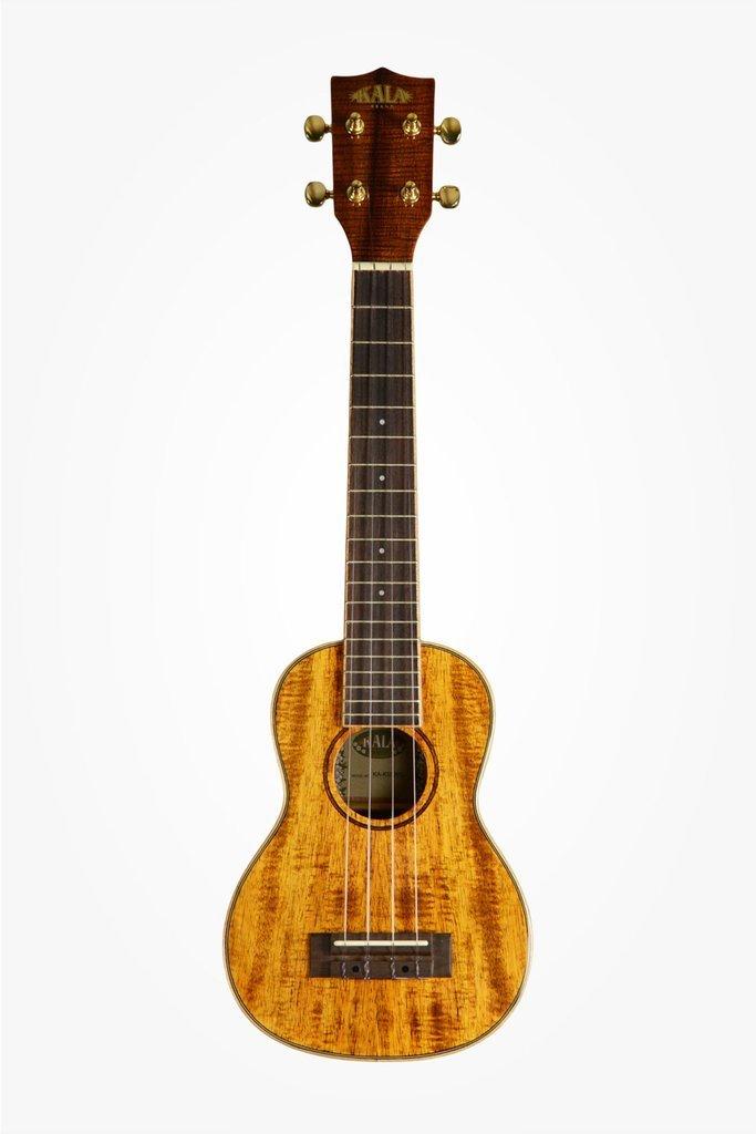 KALA KA-KSLNG Hawaiian Koa Gloss Long Neck Soprano