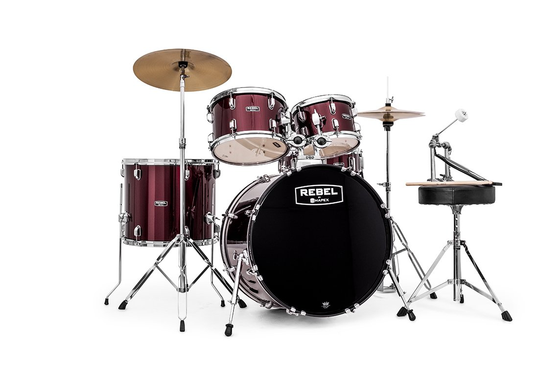 Mapex RB5294FTCDR Rebel 5 Pc. 22 Drumkit, Dark Red