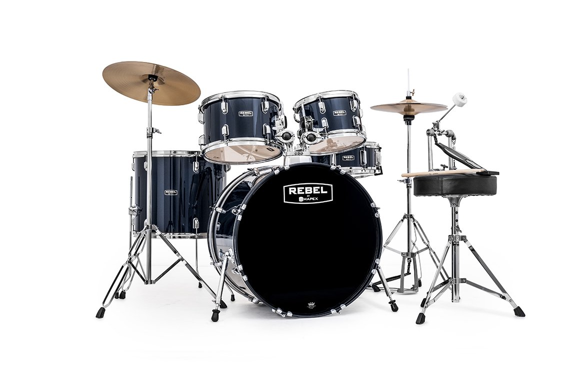 Mapex RB5294FTCYB Rebel 5 Pc. 22 Drumkit, Royal Blue
