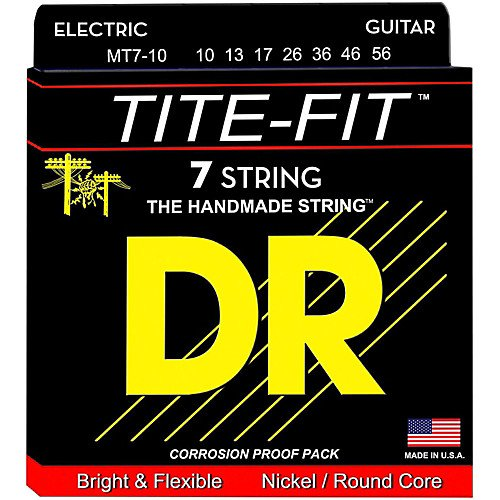 DR MT7-10 Tite fit Nickel 7 string 10/56