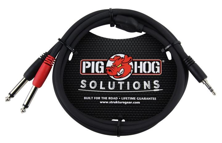 Pig Hog PB-S3403 3.5mm-Dual 1/4 Stereo Breakout Cable