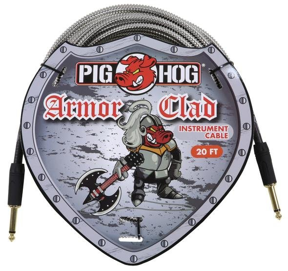 Pig Hog PHAC-20 Armor Clad 20' Instrument Cable