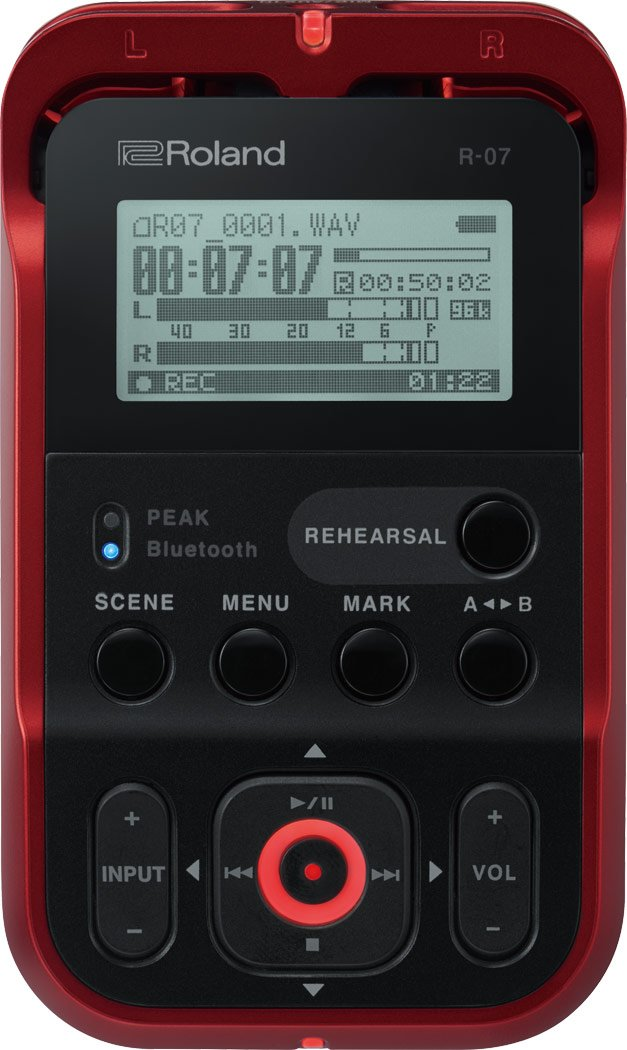 Roland R-07 Handheld recorder, Red