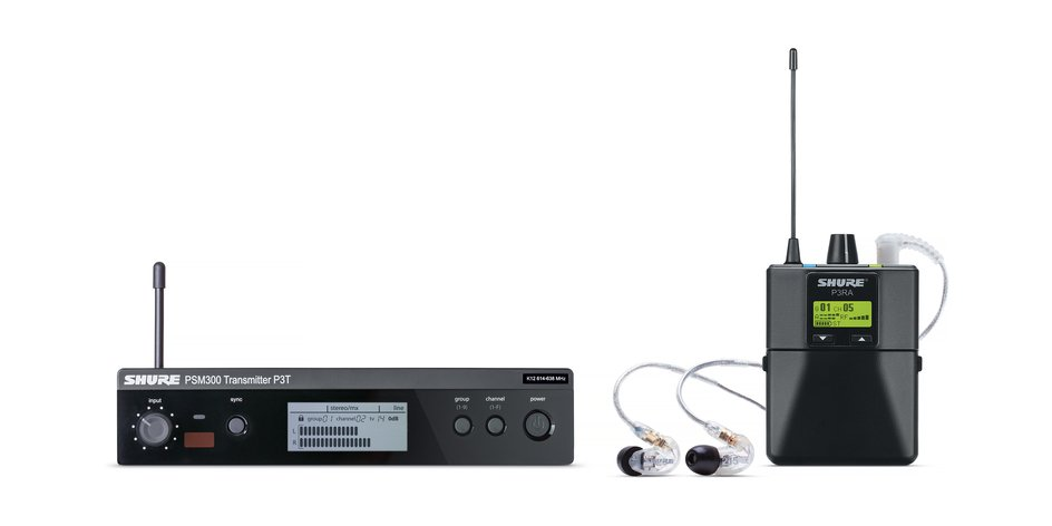 Shure PSM300 Stereo Personal Monitor System w/ SE215 Earphones