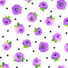Brooke White Purple Flowers