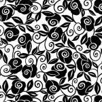 Brooke White/Black Flower