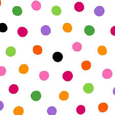 Brooke White Multi Dots