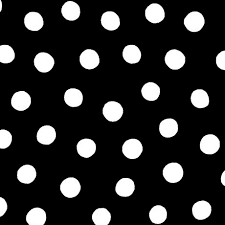 Brooke Black White Dots