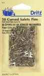 Curved Safety Pins Sz1 50ct Nkl