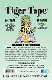 4 Blanket Stitch 1/4 Wide Tape