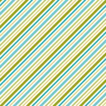 Happy Camper Multi Blue/Green Bias Strip