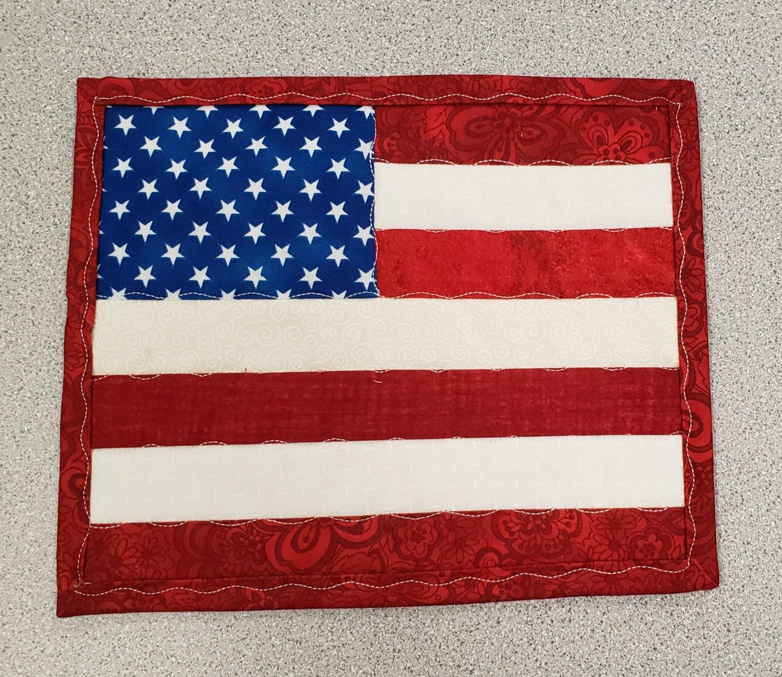 American Flag Mug Rug kit