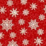 Winter Greetings Red Snowflakes