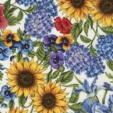 Cream Garden Floral