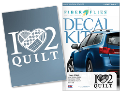 Car Decal - I Love 2 Quilt