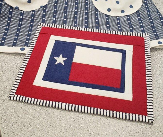 Texas Flag Mug Rug