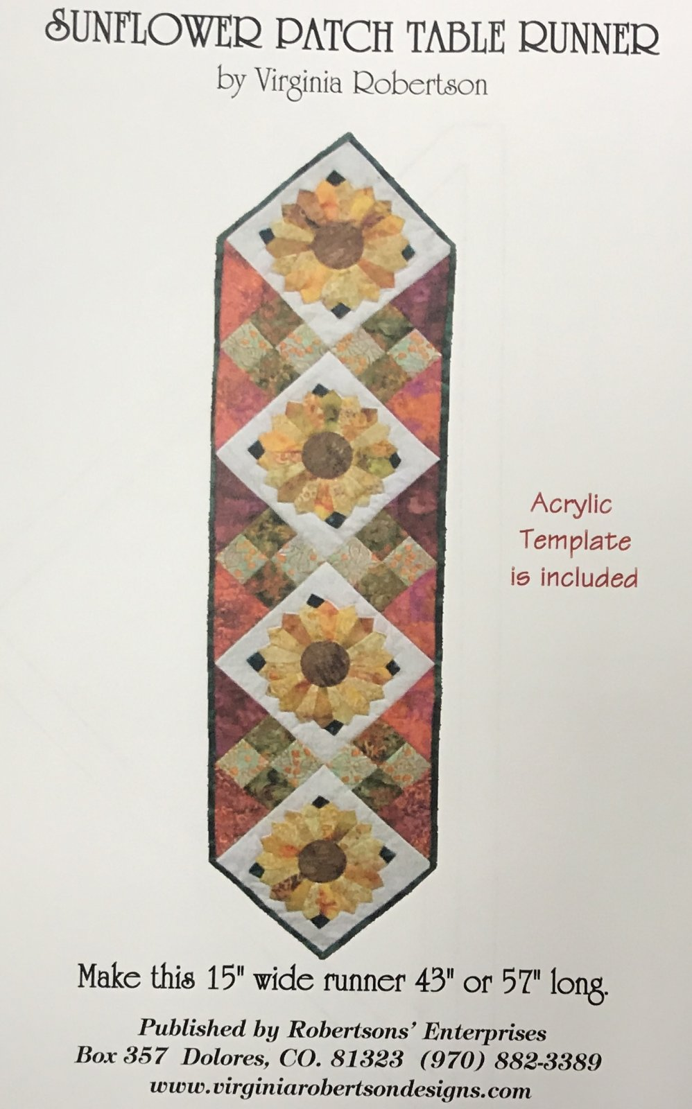 Sunflower Patch Runner - w template