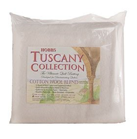 Tuscany Batting Cotton/Wool Throw