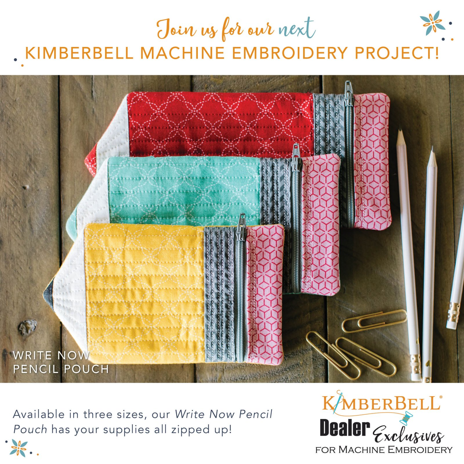 Kimberbell Pencil Pouch Kit (One Pouch)