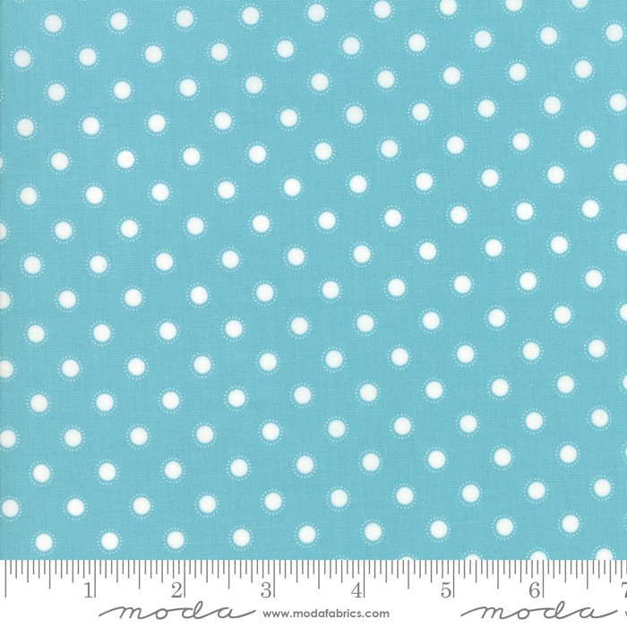 Bloomington 108, Teal by Lella Boutique for Moda : 11162-16