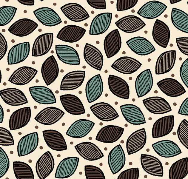 Wisdom of the Plains, Leaves - Cream by Tara Reed for Quilting Treasures : 1649-24282-EX