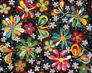 Flower Daze by River's Bend for Midwest Textiles : 1960-1