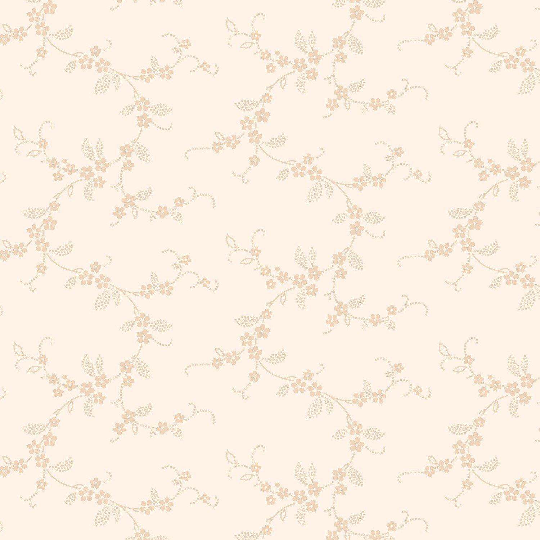 Apple Cider 16, White Floral Vine by P&B Textiles : 200-W