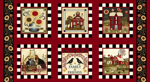 Count Your Blessings, Fabric Panel by Color Principle for Henry Glass Fabrics: 2346-88