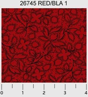 Garibaldi by Sara Morgan of Washington Street Studio for P&B Textiles : 26745-redbla1