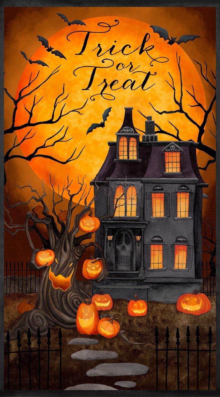 Haunted Night panel by Danielle Leone for Wilmington Fabrics 27585-892