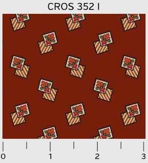 Cross Quilt by The Rocky Mountain Quilt Museum of Washington Street Studio for P&B Studio : 352-I
