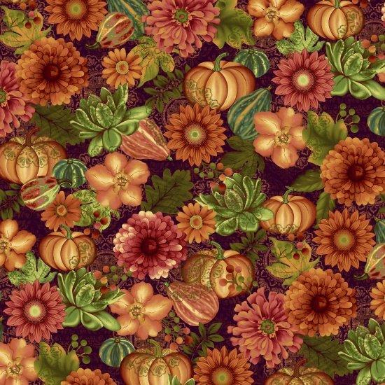 Fall Festival, Flowers by Jennifer Brinley for StudioE Fabrics : 4266-89