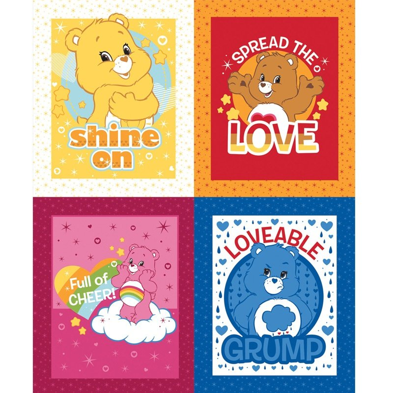 Care Bears, Characters Fabric Panel 24in by Camelot Fabrics : 44010111P