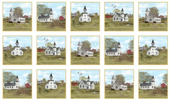 Amazing Grace, Digital Fabric Panel by Billy Jacobs for Elizabeth's Studio : 4709-White
