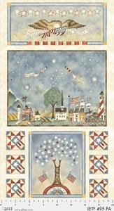 Let Freedom Fly Forever, Fabric Panel 24in by Jacquelline Paton for P&B Textiles : 495-PA