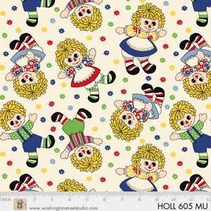 Holly's Dollies by Sara Morgan of Washington Street Studio for P&B Textiles : 605-MU