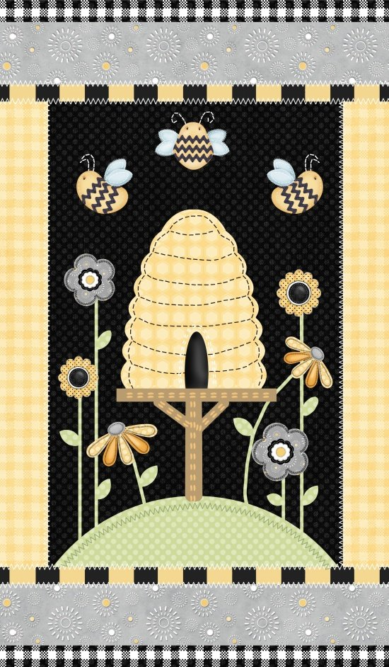 Sew Bee It, 24 Fabric Panel by Shelly Comiskey for Henry Glass : 6639P-94