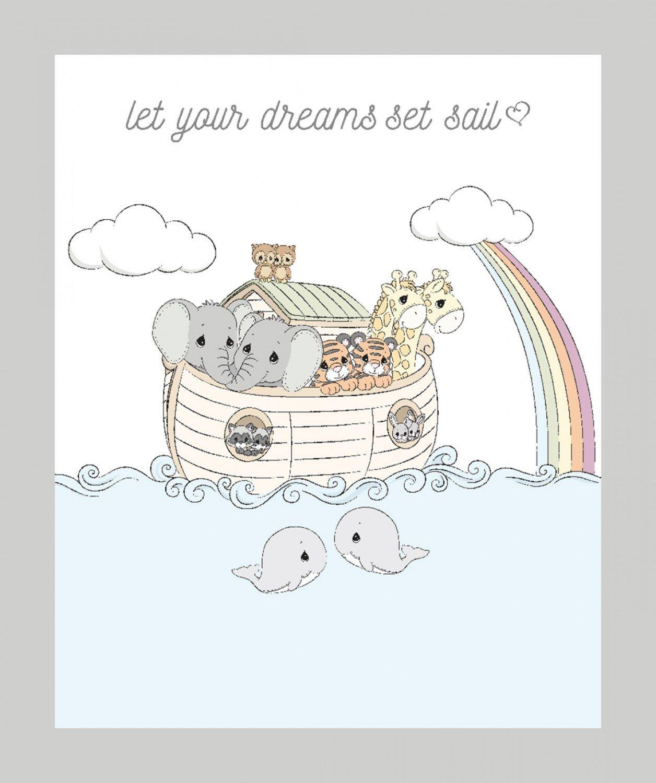 Precious Moments Noahs Ark Panel, 36 Fabric Panel by Springs Creative : 71691-A620715