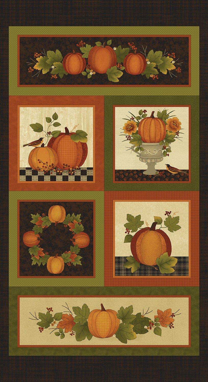 Spice/Multi Harvest Berry Panel by Cheryl Haynes for Benartex 7560B-88