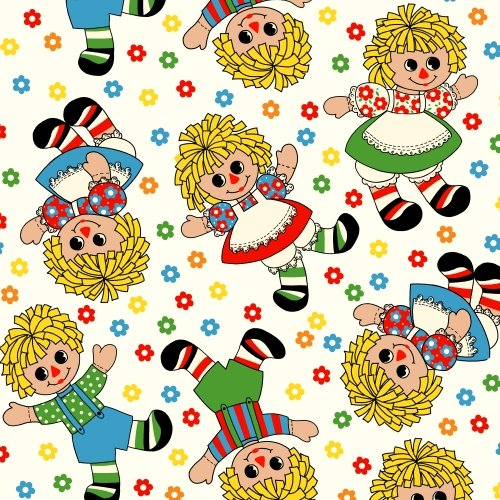 Holly's Dolls by Sara Morgan for Blue Hill Fabrics : 8007-019