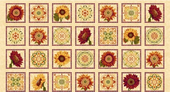Harvest Gathering by Color Principal for Henry Glass & Co. : 8769-44