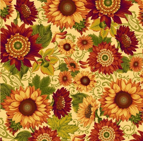 Harvest Gathering by Color Principal for Henry Glass & Co. : 8771-44