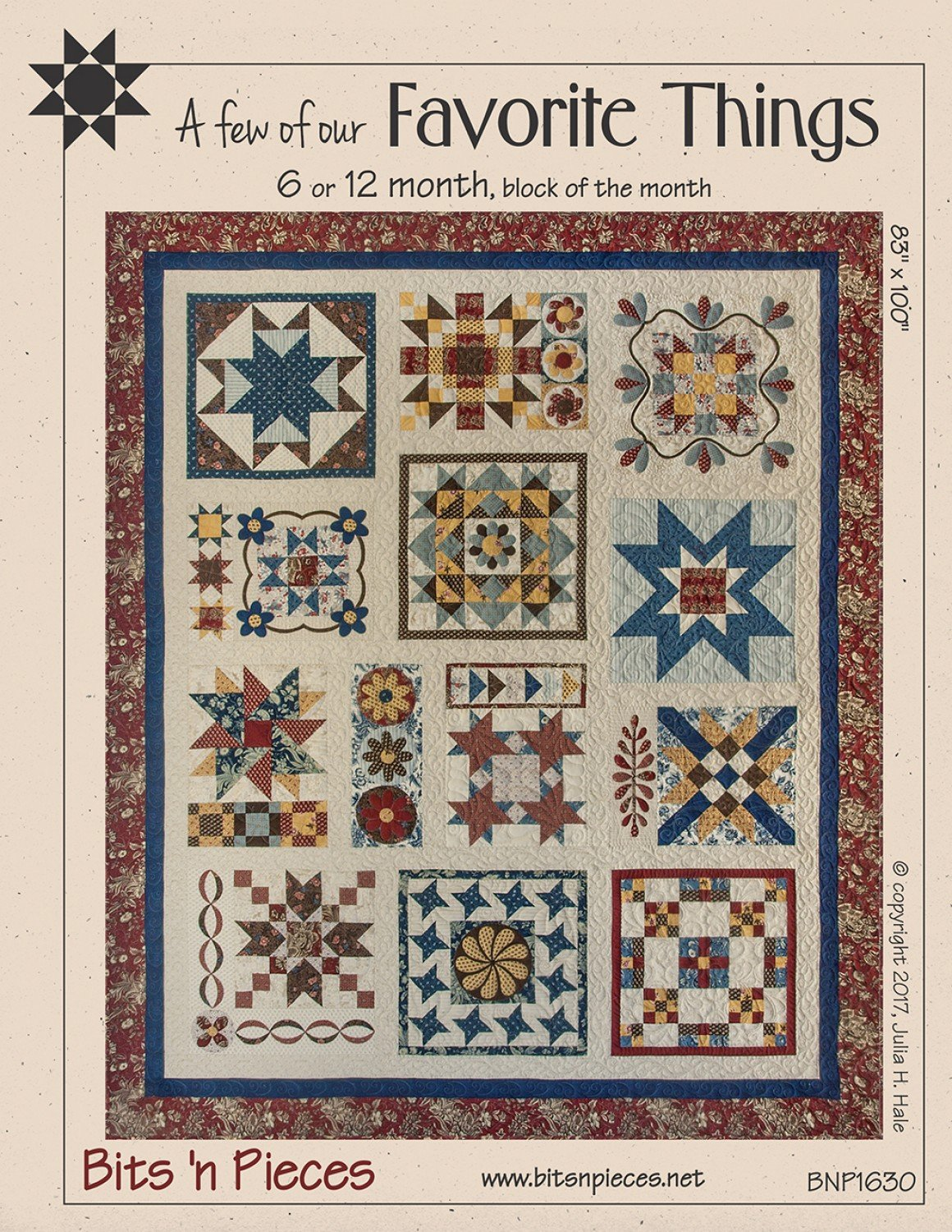 A Few of Our Favorite Things quilt pattern by Bits 'n Pieces BNP1630