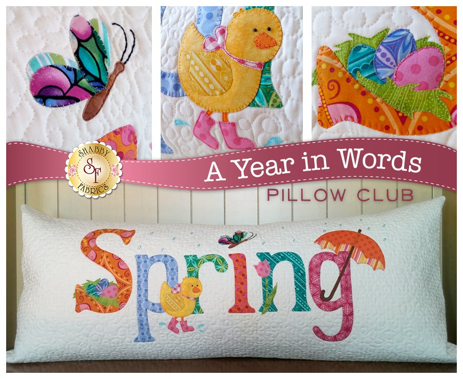 A Year in Words - Spring, Fabric Kit, Fabric Selection by Quilts N Gifts, Pattern by Shabby Fabrics : SF49826-Kit