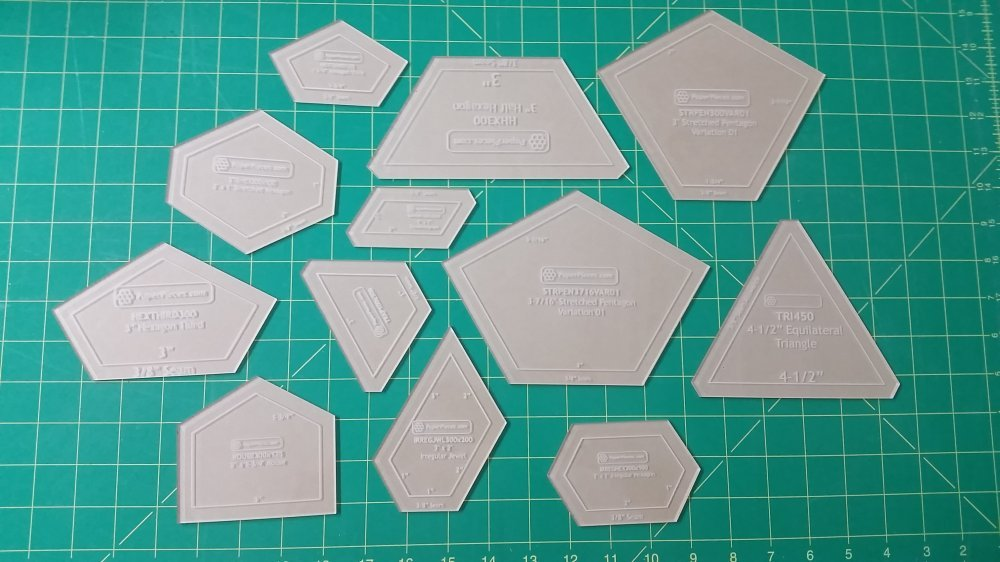 quilting hexagon templates free - english paper piecing