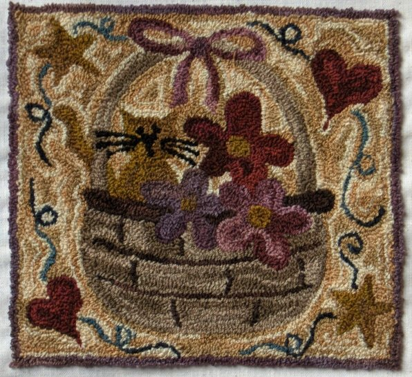 Allie's Basket, Punchneedle Embroidery by Christine Baker for Fairfield Road Designs : 1314