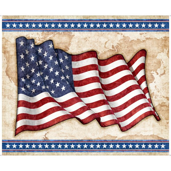 American Flag Panel by QT Fabrics 1649-27613-X