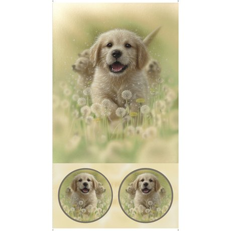 Artworks XV Puppy Love panel from QT Treasures 27626 A