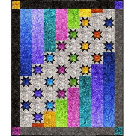 Aurora Nights 2 quilt kit by Bound To Be Quilting for QT Fabrics Kit4048C