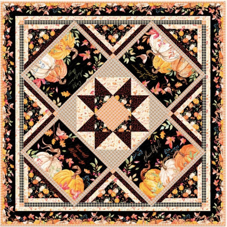 Autumn Day quilt/table topper fabric kit by Nancy Mink for Wilmington Prints 1665